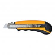 Нож 18мм+8 лезвий  обрезиненная ручка