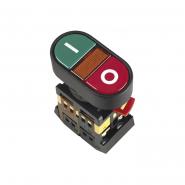 """Кнопка АРВВ-22N """"I-O"""" d22mm неон/240В 1з+1р ИЕК"""
