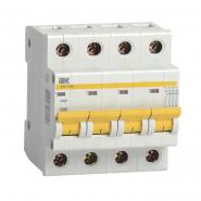 Автоматический выключатель IEK ВА47-29М 4р 10А D