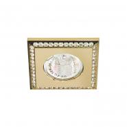 Светильник точечный Feron DL102-C  прозрачный/золото