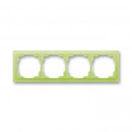 Рамка четверная  белый/зеленый лед Neo