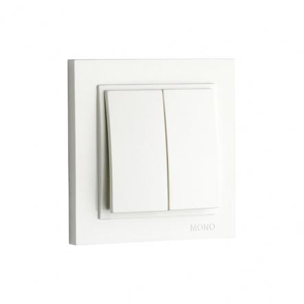 Выключатель 2кл. Mono Electric, DESPINA (белый) - 1