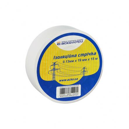 Изолента 0,13мм*19мм 15м белая АСКО - 1
