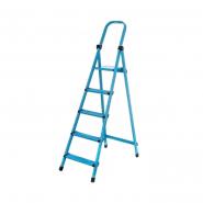 Стремянка метал. WORK'S 5ступ. 405, синяя высота 323см