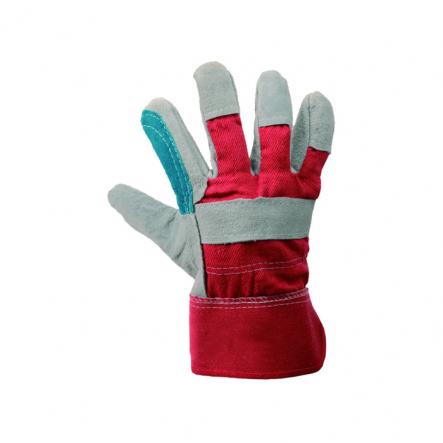 Перчатки комбин. из замша и ткани, усилен, ладонь 10,5 - 1