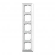 Рамка пятерная горизонтальная  белый Basic 55