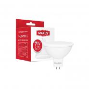 Лампа MAXUS 1-LED-723 MR16 7W 3000K 220V GU5.3