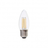 Лампа светодиодная LB-68 dimm C37 230V 4W 400Lm E27 4000K (диммер) Feron