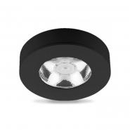 Светильник AL520 COB 5W круг, черный 480Lm 4000K 75*18mm НАКЛАДНОЙ