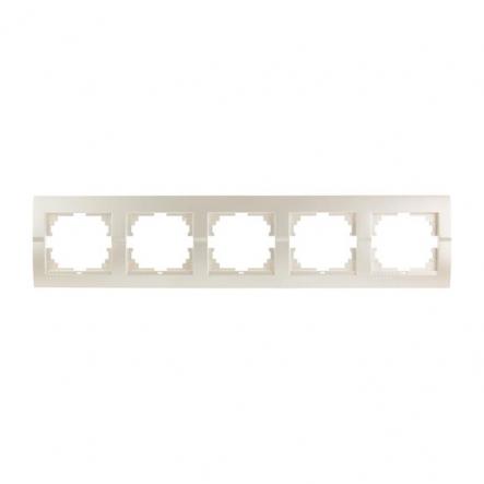 Рамка пятиместная Lezard DERIY горизонтальная жемчужно-белый 702-3000-150 - 1