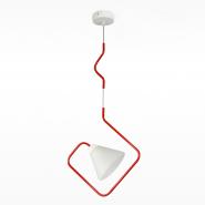 Люстра Сигма 20910N&B белый матовый красный глянец
