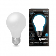 Лампа FIL Gauss A60 10W E27 4100K OPAL