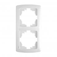 Рамка двойная вертикальная белый VIKO Серия CARMEN
