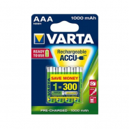 Аккумуляторная батарейка VARTA RECHARGEABLE ACCU AAA 1000 mAh BLI 4 NI-MH
