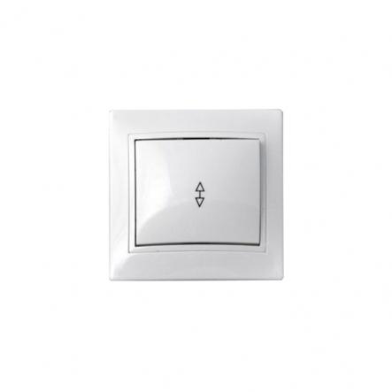 Выключатель одноклавишный проходной белый ВВпсб10-1-0-FL-W - 1