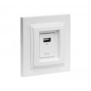 Розетка USB-ЗАРЯДКА, Mono Electric, DESPINA (белый)