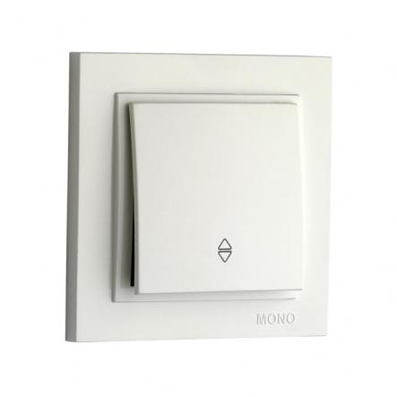 Выключатель 1кл.проход. Mono Electric, DESPINA (белый) - 1