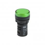 Светосигнальный индикатор IEK AD22DS (LED) матрица d22мм зеленый 12В AC/DC