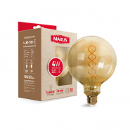 Лампа LED G125  FM 4W 2200K 220V E27 Vintage Maxus