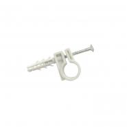 Обойма для труб и кабеля Д.63мм с шур.10х42мм/25шт/белый