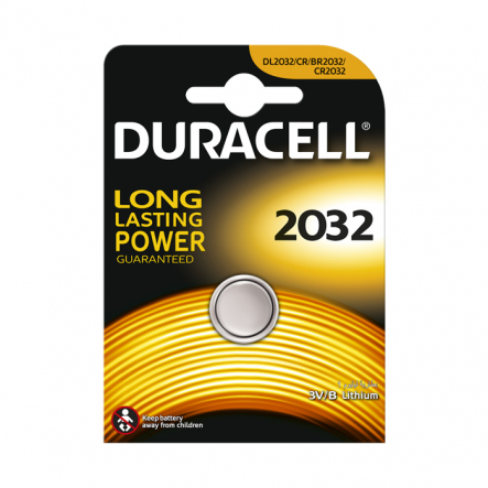 Батарейка Duracell DL2032 3V - 1