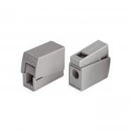 Клеммник  WAGO 1* (0,5-2,5мм.кв.) для светильников серый самозажимной