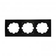 Рамка RAIN 3-я горизонтальная   антрацит с боковой вставкой