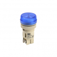 Светосигнальный индикатор IEK ENR-22 d22мм синяя неон 240В цил.