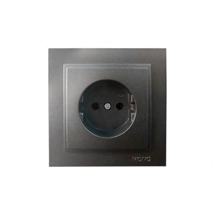 Розетка 1-я без заземления , Mono Electric, DESPINA ( графит ) - 1