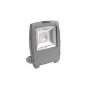 Прожектор светодиодный квадрат 1LED/30W-белый 230V серый 6400K (IP65) 215*290*80 мм