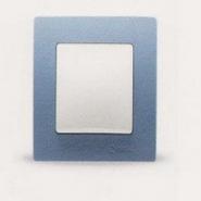 Рамка одинарная горизонтальная синяя Lillium