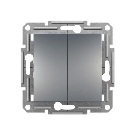 Выключатель 2-кл. самозаж. сталь ASFORA - 1