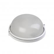 Светильник НПП 1101белый-круг 100 Вт металлическом корпусе IP54