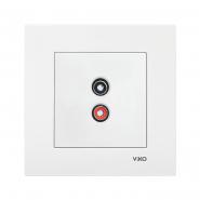 Розетка аудио (для динамиков) белый VIKO Серия KARRE