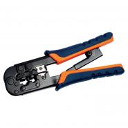 Инструмент обжим для RJ-45,12,11 с храп. мех сине-оранжевый ITK