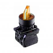 Кнопка желтая поворотная 2-х поз. с подсветкой TB5-AK125M5 ACKO-УКРЕМ