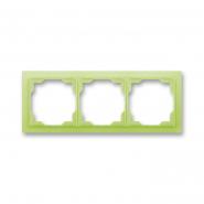 Рамка тройная белый/зеленый лед Neo