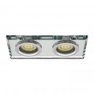 Светильник потолочный точечный Morta CT-DSL250-SR 2хGU10 прозр.стекло
