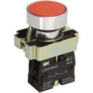 Кнопка управления LAY5-BL42 без подсветки красная 1р ИЕК