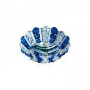 Светильник точечный MR-16 CD2121 50W прозрачный синий/хром