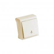 Выключатель одноклавишный кнопочный крем VIKO Серия VERA