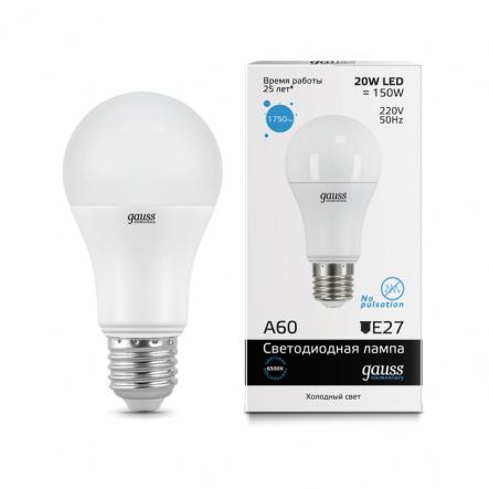 Лампа Gauss LED Elementary A60 20W E27 6500K - 1
