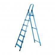 Стремянка метал. WORK'S 7ступ. 407, синяя высота 367см