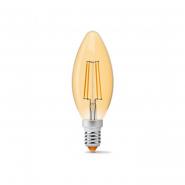 Лампа LED VIDEX Filament C37FA 4W E14 2200K 220V бронза