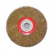 Щетка-крацовка утолщенная диск.,латунная 200 мм