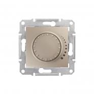 Светорегулятор индуктивный поворотно-нажимной титан