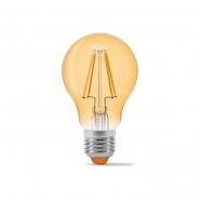 Лампа LED VIDEX Filament A60FA 7W E27 2200K 220V бронза