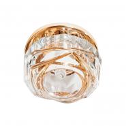 Светильник точечный СОВ 10W 3000К прозрачный золото