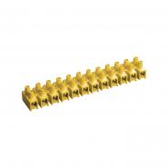 Зажим винтовой ЗВИ-15 н/г 4.0-10мм2 12пар ИЕК  желтый