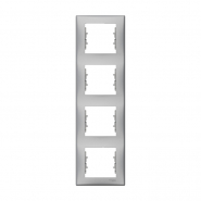 Рамка 4-я вертик. алюм Sedna